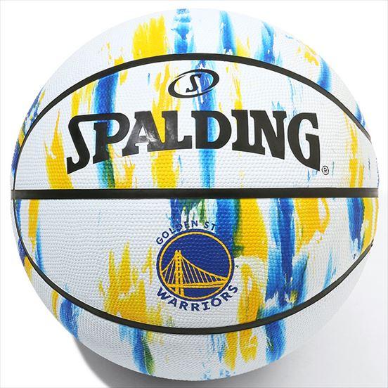 84-100J/ SPALDING / ウォリアーズ マーブル ホワイト ラバー 7号球/ バスケットボール / スポルディング