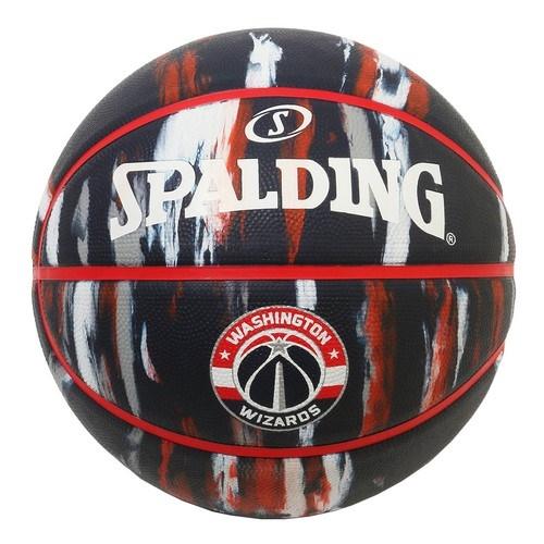 84-153J/ SPALDING /ウィザーズ マーブル ラバー 5号球/ バスケットボール / スポルディング