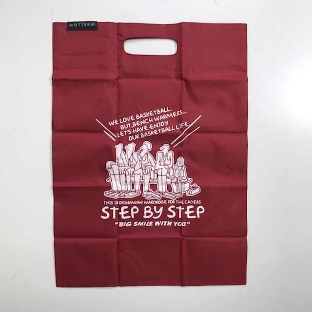 step2020bag-red / STEPBYSTEP ORIGINAL ECO BAG / ポケットスクエアバッグ / オリジナル エコバッグ