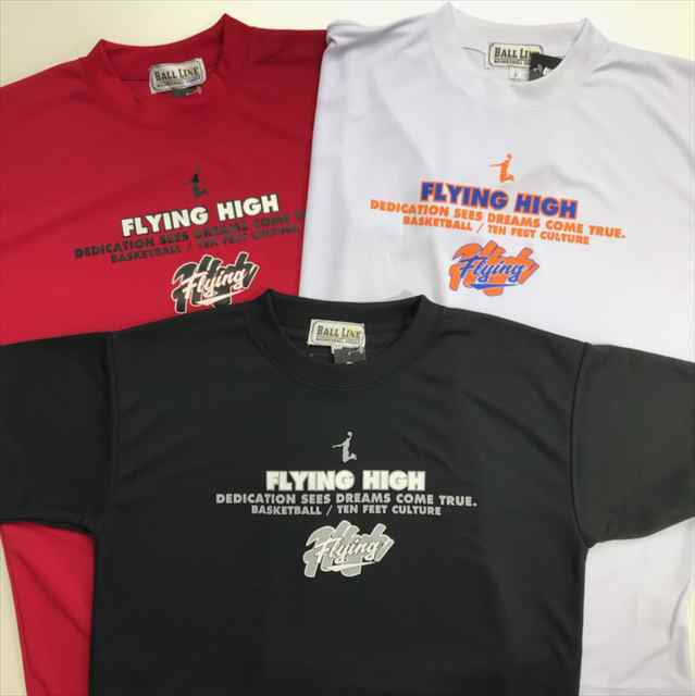 FHT-2105 /【2021春夏新作】 / FLYING HIGH / フライングハイ / 当店限定商品 / BALL LINE(ボールライン)×STEP BY STEP / Tシャツ / ペイント