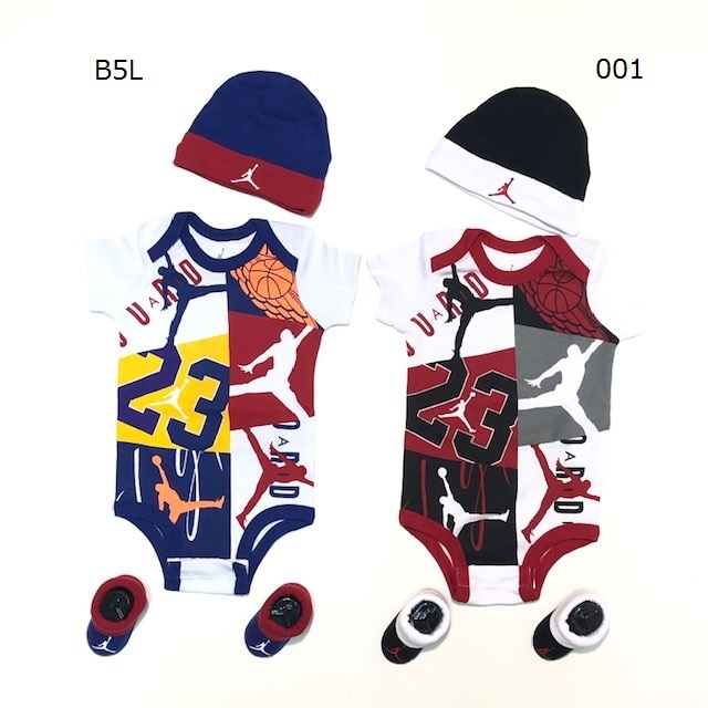NJ0320 / Jordan / BABY / ジョーダン / ベビー / ロンパース3点セット / ウェア