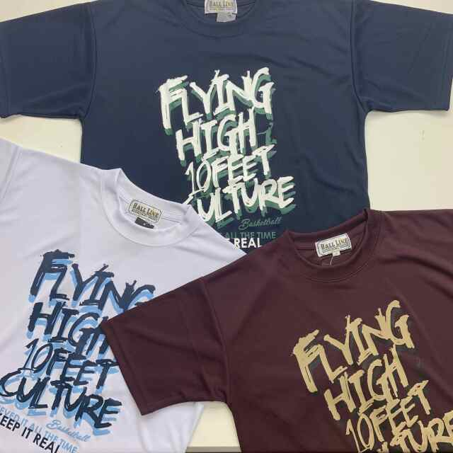 FHT-2109 /【2021春夏新作】 / FLYING HIGH / フライングハイ / 当店限定商品 / BALL LINE(ボールライン)×STEP BY STEP / Tシャツ
