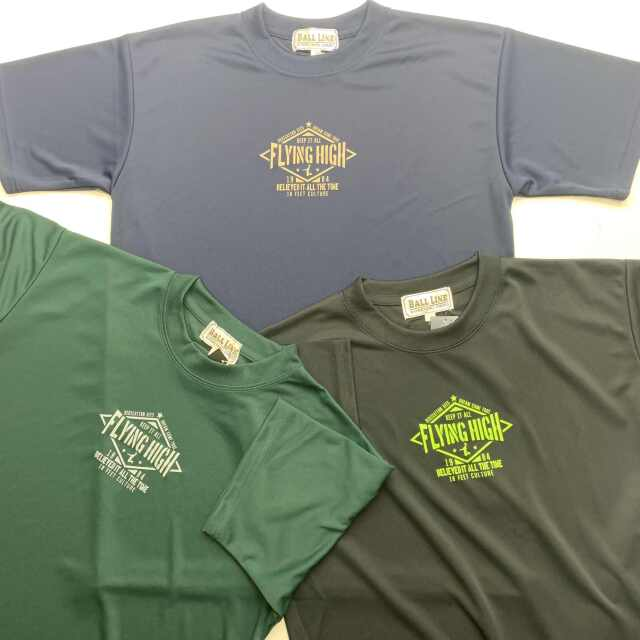 FHT-2108 /【2021春夏新作】 / FLYING HIGH / フライングハイ / 当店限定商品 / BALL LINE(ボールライン)×STEP BY STEP / Tシャツ