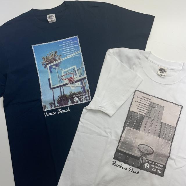 FHT-2113 /【2021春夏新作】 / FLYING HIGH / フライングハイ / 当店限定商品 / BALL LINE(ボールライン)×STEP BY STEP / コットンTシャツ