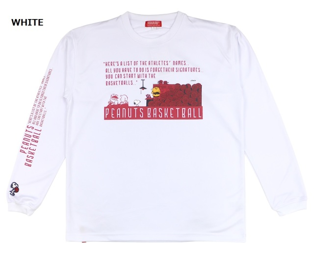 PNU-6594 / 【2019秋冬新作】 BALL LINE × PEANUTS / BASIC LONG SLEEVE SHIRT / Tシャツ / プラクティスシャツ / ボールライン / SNOOPY / スヌーピー