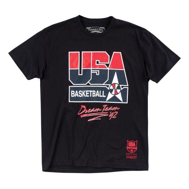 MN42JA54 / Mitchell & Ness /1992 USA BASKETBALL TEE / 1992 USAバスケットボール ロゴ Tシャツ / TEAM USA 1992 USAドリームチーム