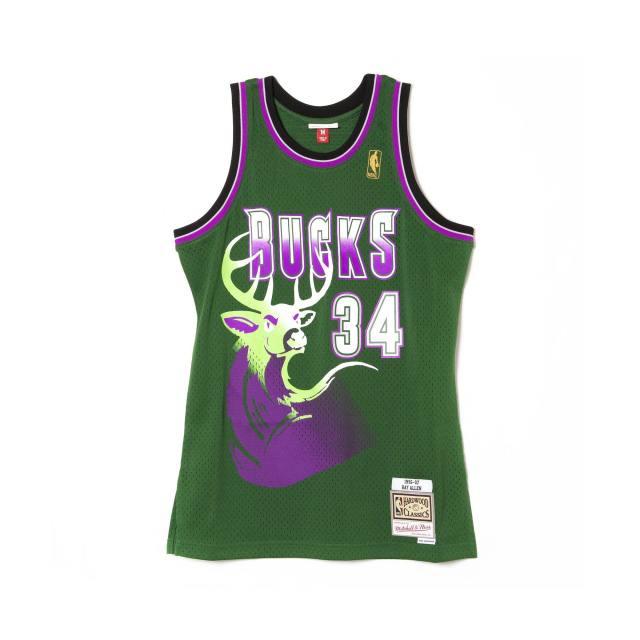 MN41JT51 / Mitchell & Ness /レイアレン /ミルウォーキーバックス / Milwaukee Bucks/NBA/ユニフォーム