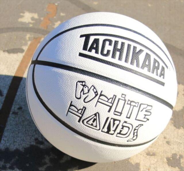 SB7-206 WHITE HANDS BASKETBALL BLK TACHIKARA 7号 / バスケットボール / アウトドア / 合成皮革