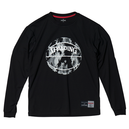 SMT181080L/S Tシャツ MARBLE/ SPALDING  / バスケットボール / スポルディング / ロングスリーブシャツ
