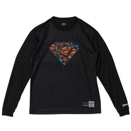 SMT181270L/S Tシャツ SUPERMAN/ SPALDING  / バスケットボール / スポルディング / ロングスリーブシャツ/SUPERMAN