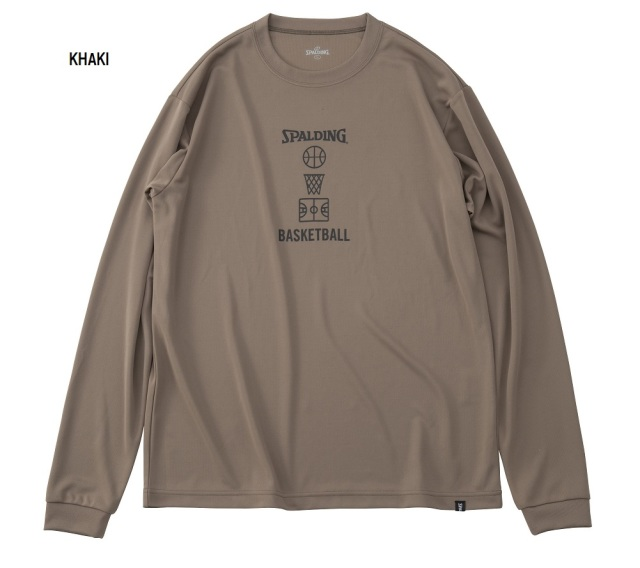 SMT191120 / SPALDING / ロングスリーブTシャツ / バスケットボールモチーフ / バスケットボール / スポルディング