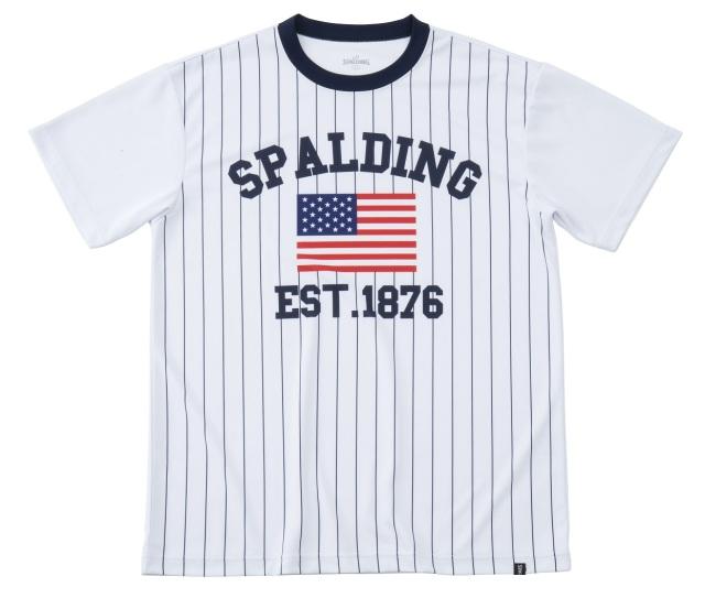 SMT191160 / SPALDING プラクティスTシャツ / ストライプ / バスケットボール / スポルディング