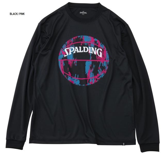SMT191210 / SPALDING ロングスリーブ Tシャツ / マーブルボール / バスケットボール / スポルディング