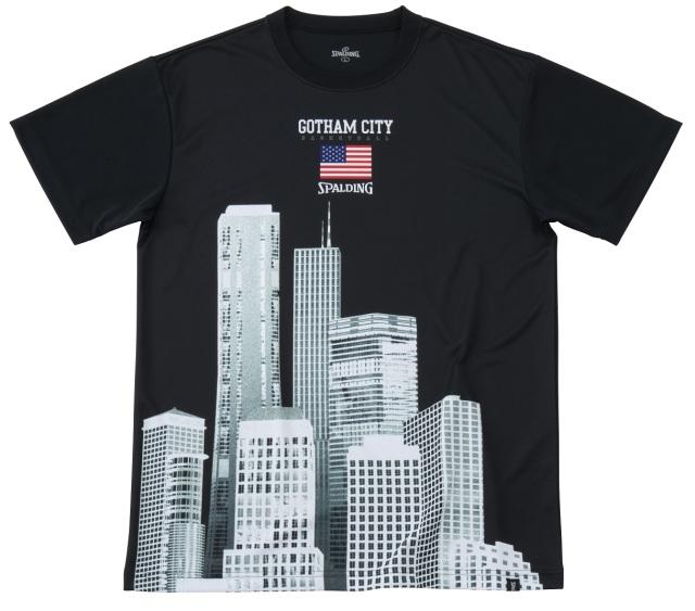 SMT191340 / SPALDING プラクティスTシャツ / ゴッサムシティ スカイクレイパー / バスケットボール / スポルディング