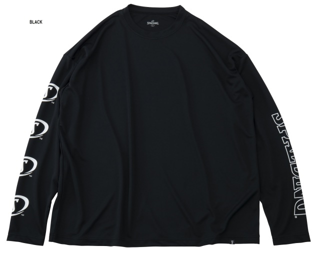 SMT191440 / SPALDING / ロングスリーブTシャツ / ショルダーロゴ / ワイルドシルエット / バスケットボール / スポルディング