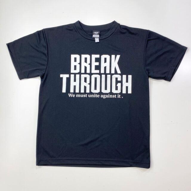 【ポリエステル】 BREAK THROUGH / 琉球新報×ステップバイステップ / コラボTシャツ / ブラック / BT-2001-blk