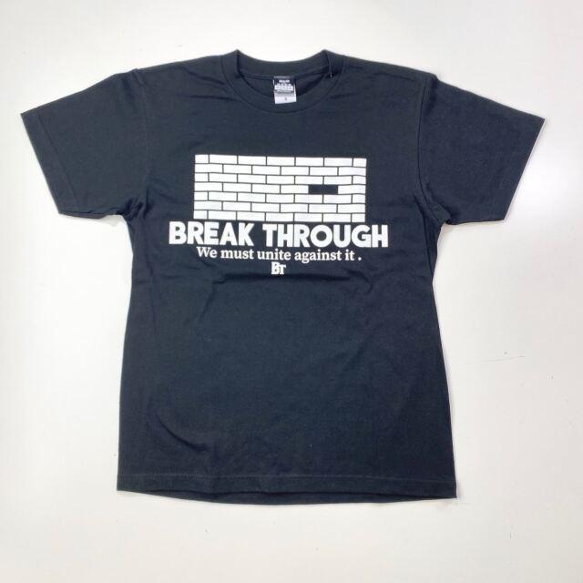 【コットン】 BREAK THROUGH WALL / 琉球新報×ステップバイステップ / コラボTシャツ / ブラック / BTW-2002-cotton-blk