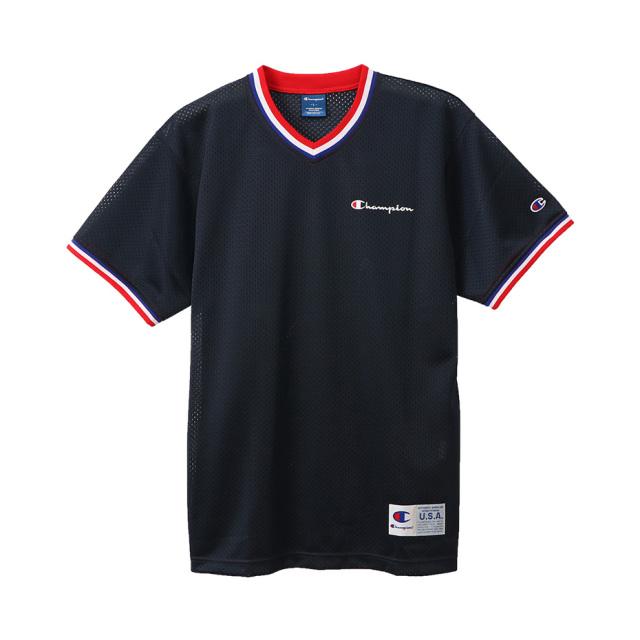 C3-RB359 / Champion / チャンプメッシュVネックTシャツ / 20SS【春夏新作】 / CAGERS / チャンピオン/0109SALE
