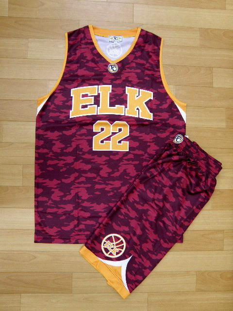 【デザインサンプル】 ELK (クラブチーム) 昇華ユニフォーム(濃色)