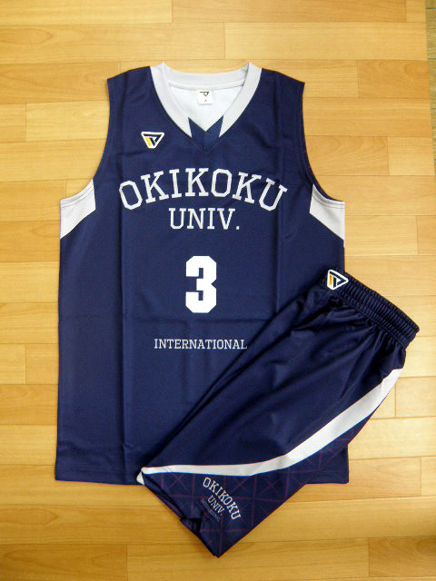 【デザインサンプル】 沖縄国際大学男子(大学) 昇華ユニフォーム(濃色)