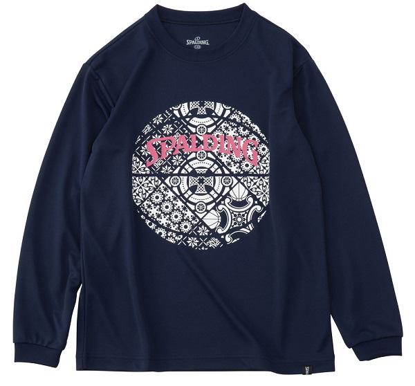 SJT191570 / SPALDING / ジュニア ロングスリーブ Tシャツ / カンジナビアン ボール / バスケットボール / スポルディング