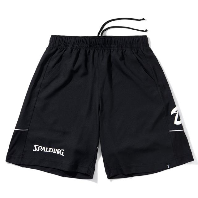 SMP211470-blk プラクティスパンツ 布帛パンツ DUKEスクリプトロゴ ブラック SPALDING