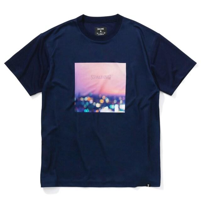 SMT210120 / 【2021春新作】 SPALDING / スポルディング / Tシャツ / ナイトビュー