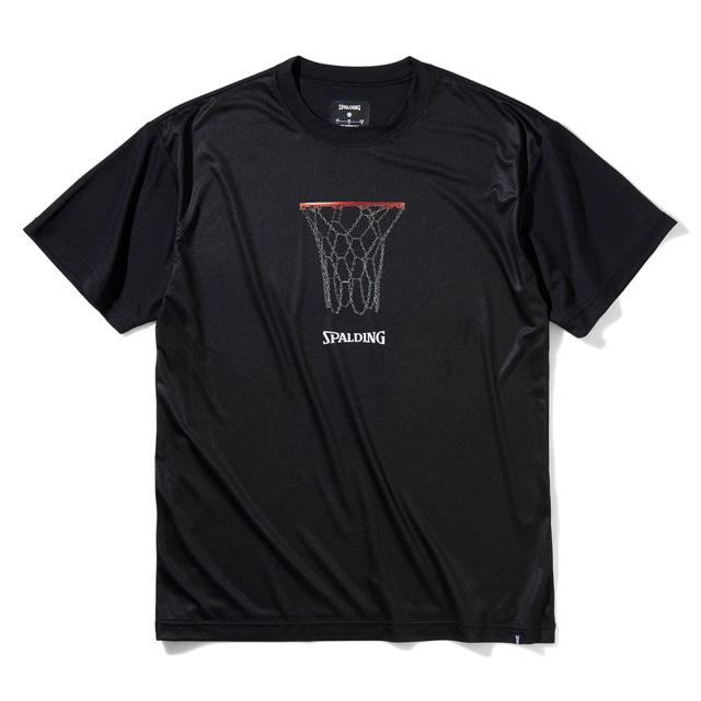SMT211270-blk Tシャツ チェーンフープ ライトフィット ブラック SPALDING