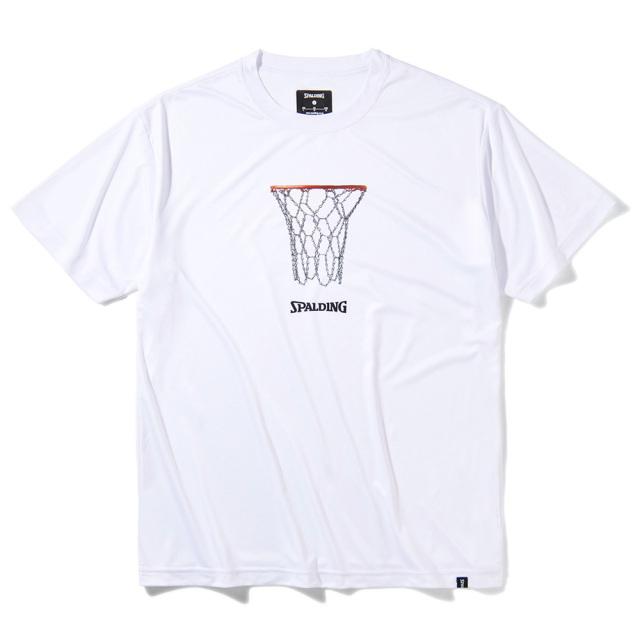 SMT211270-wht Tシャツ チェーンフープ ライトフィット ホワイト SPALDING