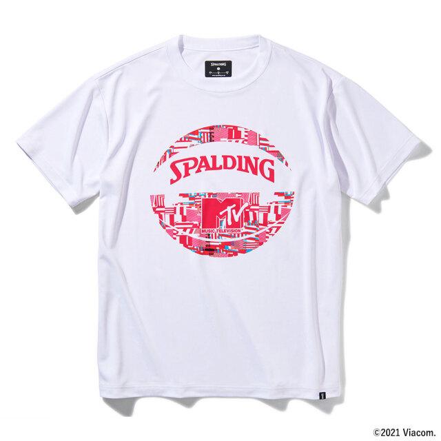 SMT211540-wht Tシャツ MTVノーシグナル ホワイト SPALDING