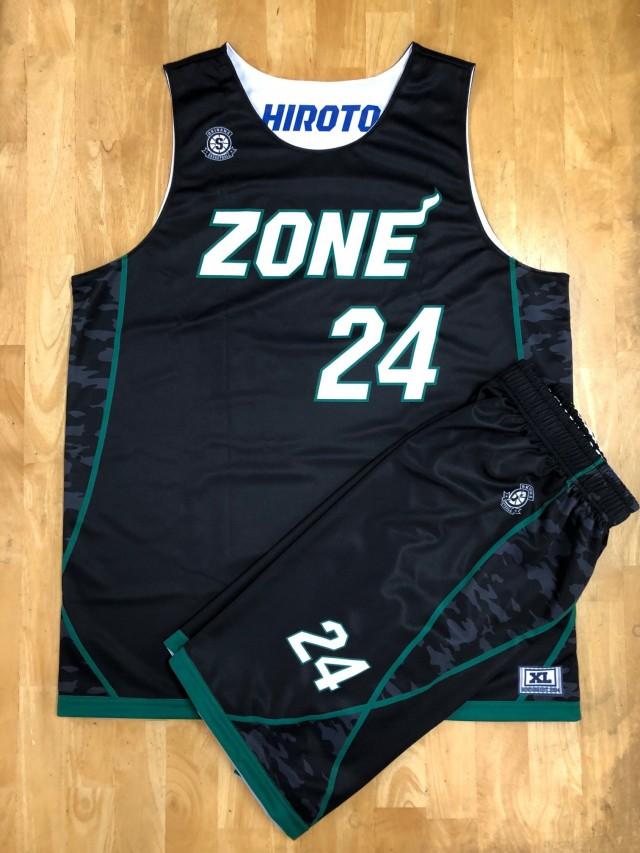 【デザインサンプル】 ZONE(沖縄県一般クラブチーム) 昇華リバーシブル