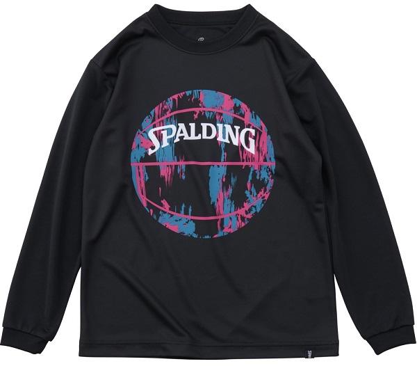 SJT191550 / SPALDING / ジュニア ロングスリーブ Tシャツ / マーブルボール / バスケットボール / スポルディング