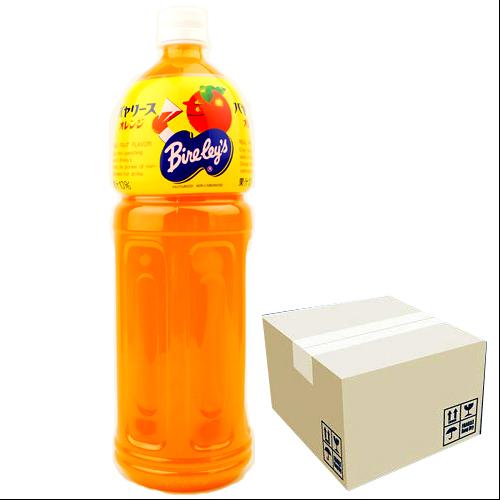 沖縄旅行/修学旅行/沖縄お土産/ 沖縄バヤリース オレンジ 果汁10% 1.5L × 8本セット 4514603298819