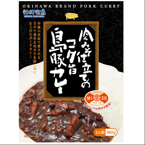 沖縄宝島 肉みそ仕立ての島豚カレー 4582112265189