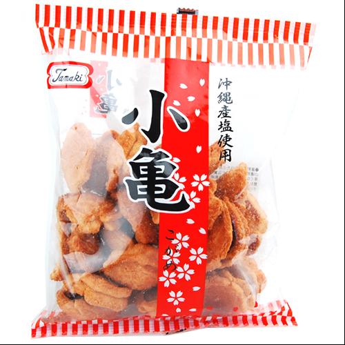 沖縄旅行/修学旅行/沖縄お土産/ 玉木製菓 一口サイズで食べやすい 小亀せんべい 82g入り袋 4963260134563