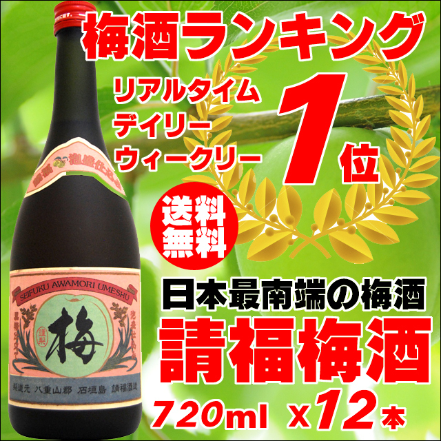 請福酒造 梅酒/12度/720ml×12本セット4989996318121