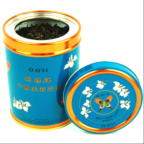 茉莉花茶 茶葉 丸缶 6901118900128