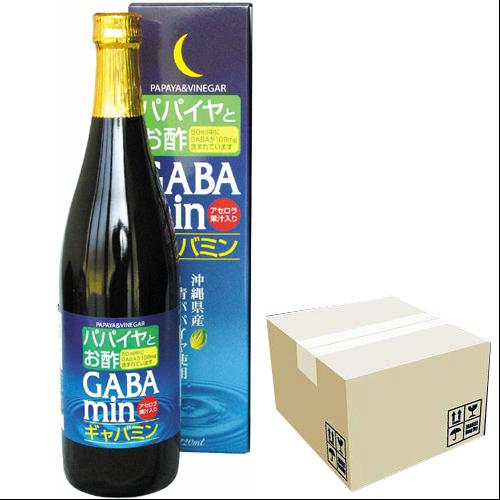 パパイヤとお酢 GABAmin ギャバミン 720ml × 12本セット 4964134422472