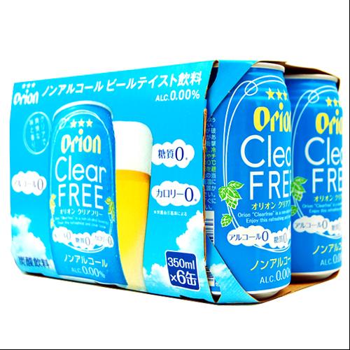沖縄旅行/修学旅行/沖縄お土産/ オリオン ノンアルコールビール クリアフリー 350ml × 6缶セット 4962656245012