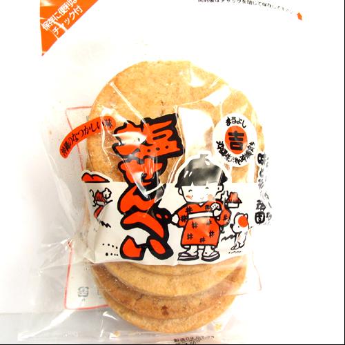 丸吉塩せんべい屋 小麦粉で作った素朴な 塩せんべい 5枚入り袋 4909719905698