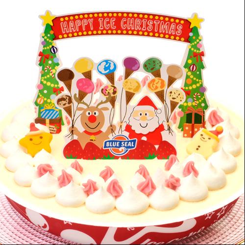 2017年 ブルーシール クリスマスアイスケーキ バニラ 4954337410130
