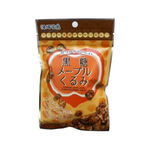 沖縄宝島 一口サイズの小袋菓子 黒糖メープルくるみ 40g入り袋 4582112265455
