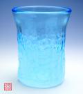 琉球ガラス泡ハーフ4インチコップスカイ