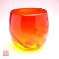 琉球ガラスモールグラス赤