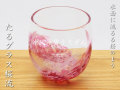 たるグラス桜流 水面に流るる桜のような樽形グラス