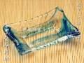 琉球ガラスの小皿 さざなみ角皿