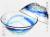 南国の小鉢 青のラインが入った琉球ガラスのお碗