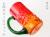 琉球ガラスの赤色ビールジョッキ、太陽のビールジョッキ