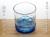 潮騒ロックグラス ガラスに気泡が入った青いタンブラー