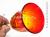 琉球ガラスの赤色のワイングラス